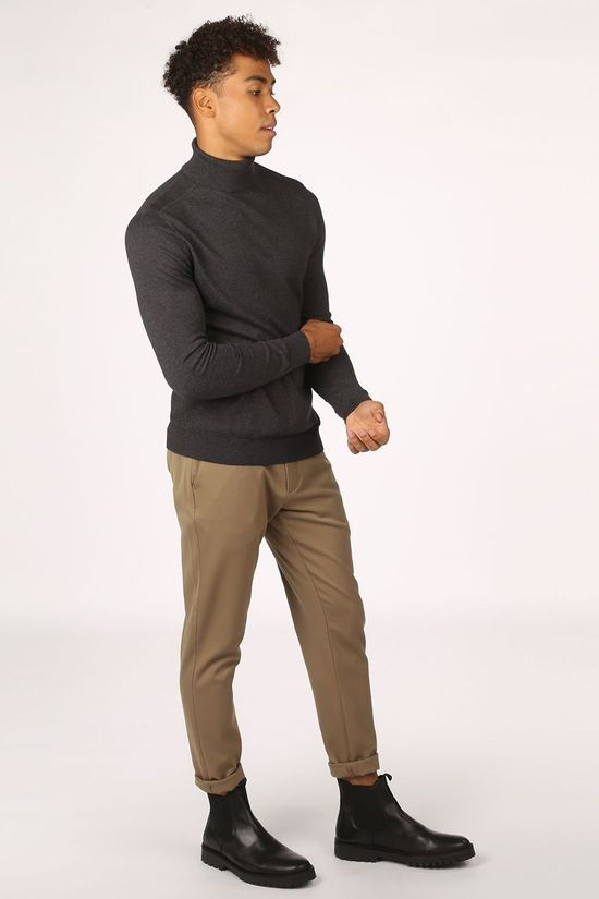 Selected Trui berg Roll Neck B Noos Donkergrijs