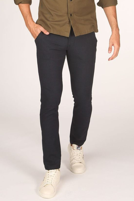 Selected Broek slimstormflexsmart Donkerblauw/Ass. Geometrisch