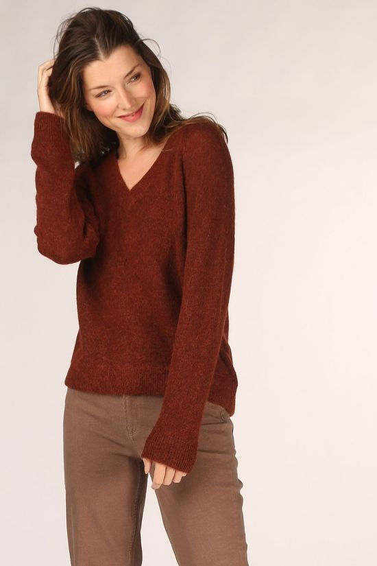 Selected Trui lulu Ls V Neck Nos Roest