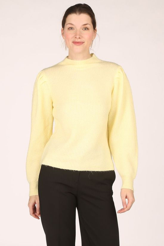 Selected Pull Slflippa Ls T Neck Jaune Clair
