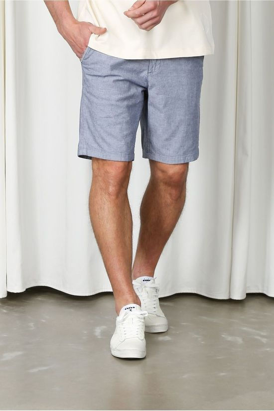 Selected Short Slhmiles Flex Linen W Bleu Clair