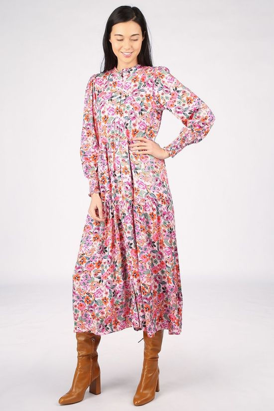 Yas Robe Yasalira Ls Long Rose Clair/Ass. Fleur