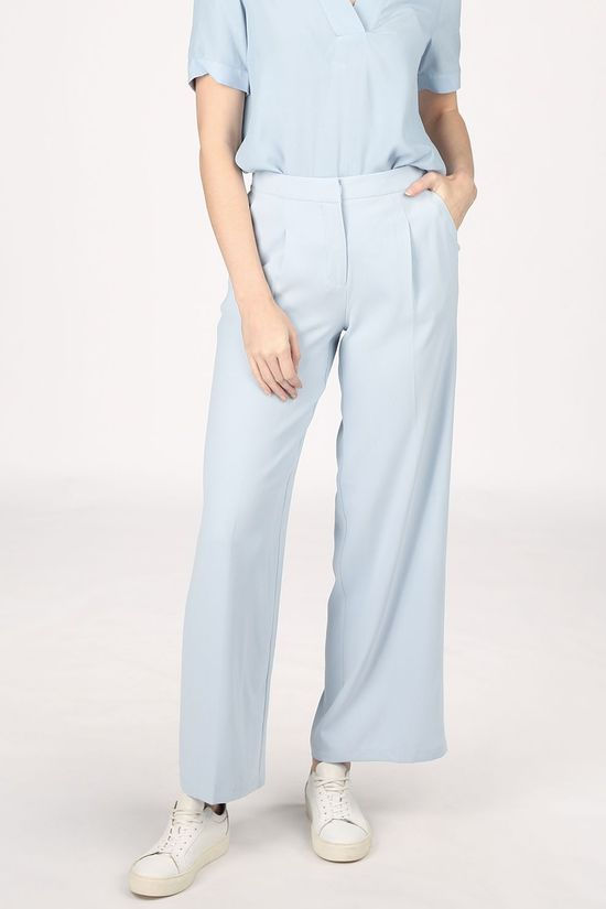 Selected Pantalon tini Mw Wide B Bleu Clair