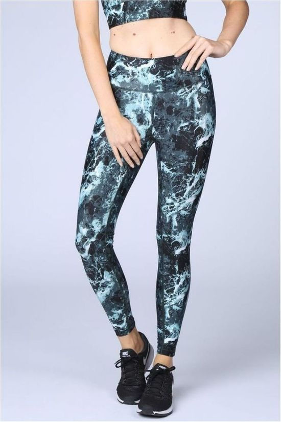 Casall Legging Stone Print 7/8 Tights Steen