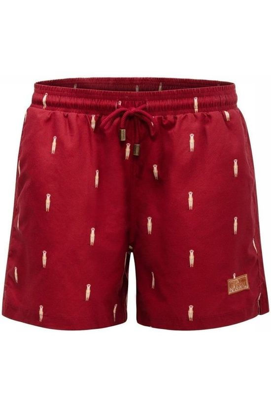 Narwal Short De Bain Meerkat Bordeaux / Marron/Ass. Géométrique