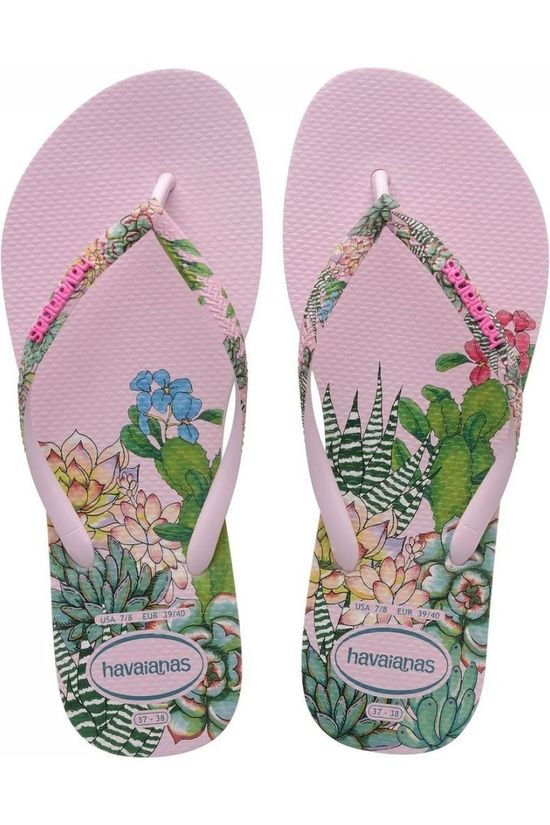 Havaianas Slipper Slim Sensation Middenroze/Ass. Bloem
