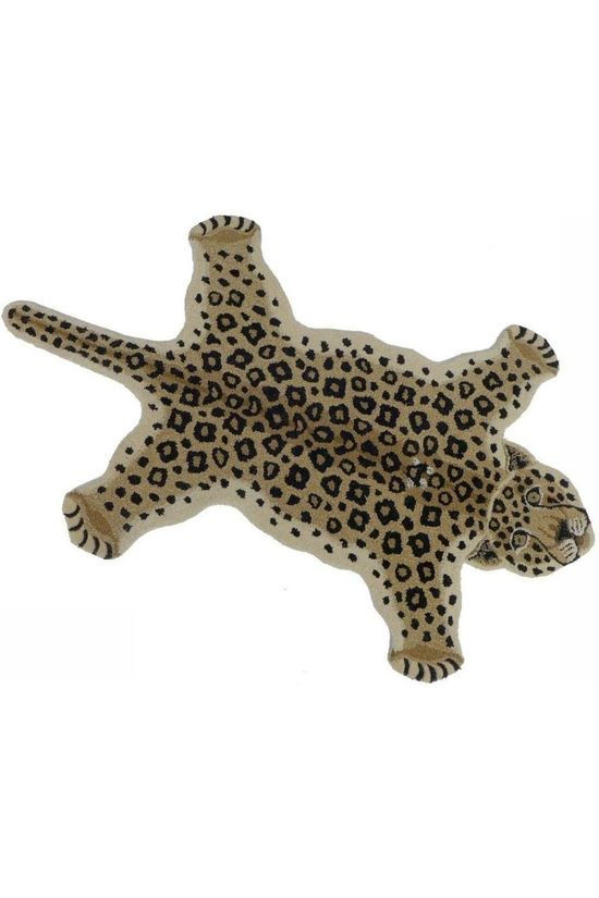 Doing Goods Tapis Loony Leopard Rug Large Brun