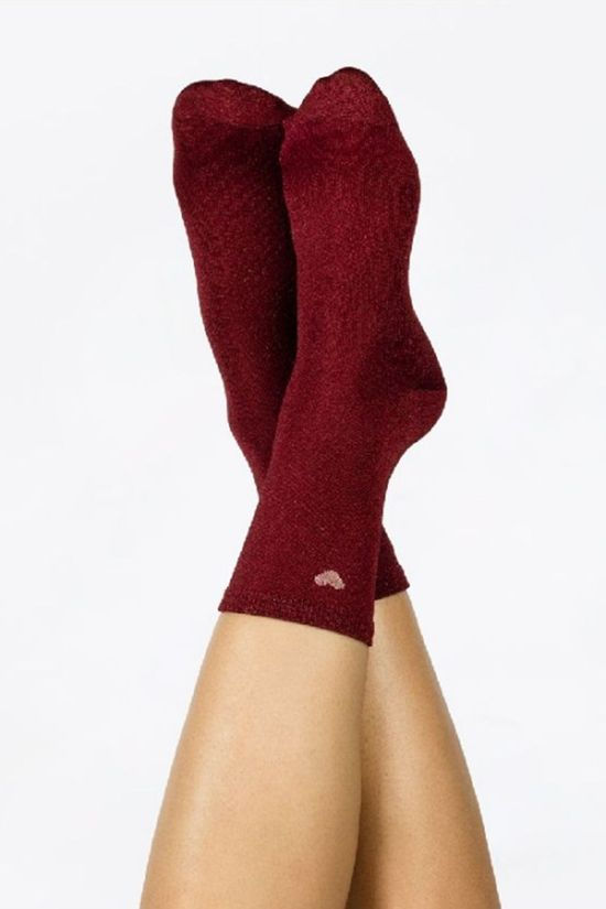 Doiy Textiel Accessoire Heart Socks Red Middenrood