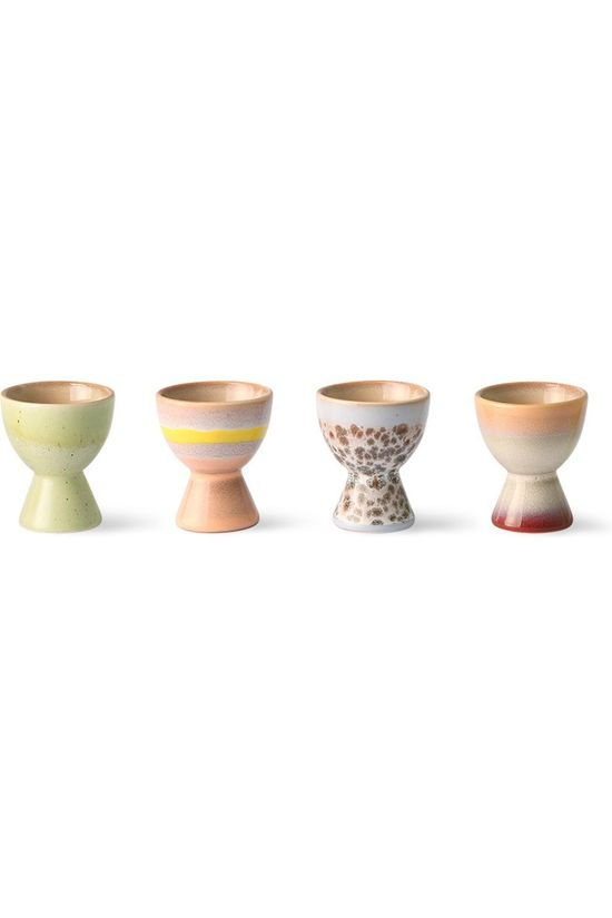 HK Living Ustensiles De Cuisine 70S Ceramics Egg Cups (set of 4) Assorti / Mixte