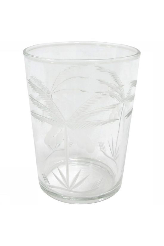 HK Living Services De Vaisselle Drinking Glass Engraved Palm Assorti / Mixte