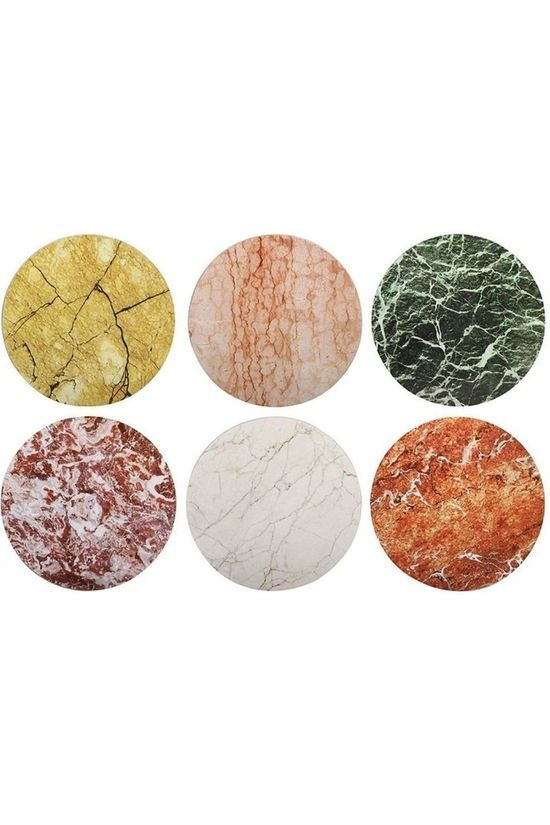 &KLEVERING Servies Set Of 6 Stone Coasters Assorti / Gemengd