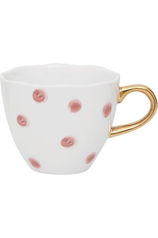 Urban Nature Culture Service De Vaisselle Good Morning Cup Mini Small Dots Blanc/Rose Moyen