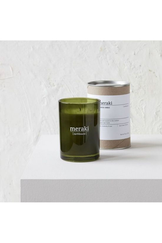 Meraki Kaars/Kaarsenhouder Scented Candle Earthbound Middengroen