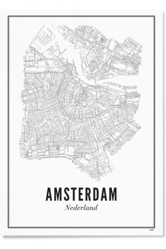 Wijck. Poster Amsterdam City Geen kleur / Transparant