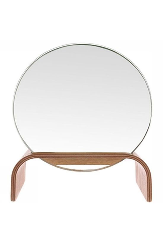 HK Living Miroir Willow Wooden Stand Brun Sable