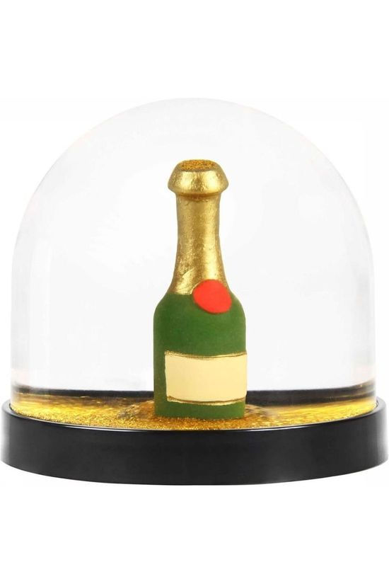 &KLEVERING Decoratie Wonderball Champaign Bottle Goud/Middengroen