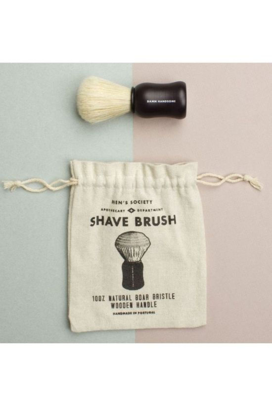 Men's Society Woonaccessoire Shave Brush Zilver/Wit