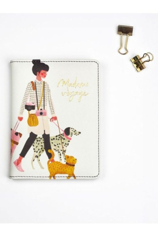 All the ways to say Accessoire Maison Passport Holder Madame Chien + Luggage Tag Blanc/Assorti / Mixte