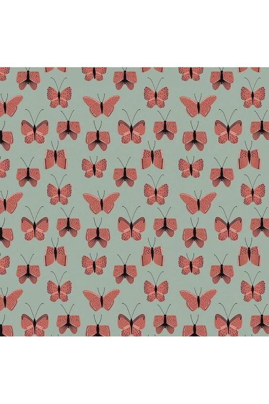 House of Products Papier d'Emballage Butterfly Red Vert Moyen/Rouge Moyen