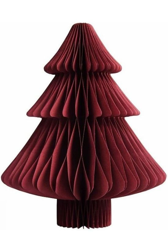 &KLEVERING Kerstcollectie Christmas Tree Paper Small Donkerrood