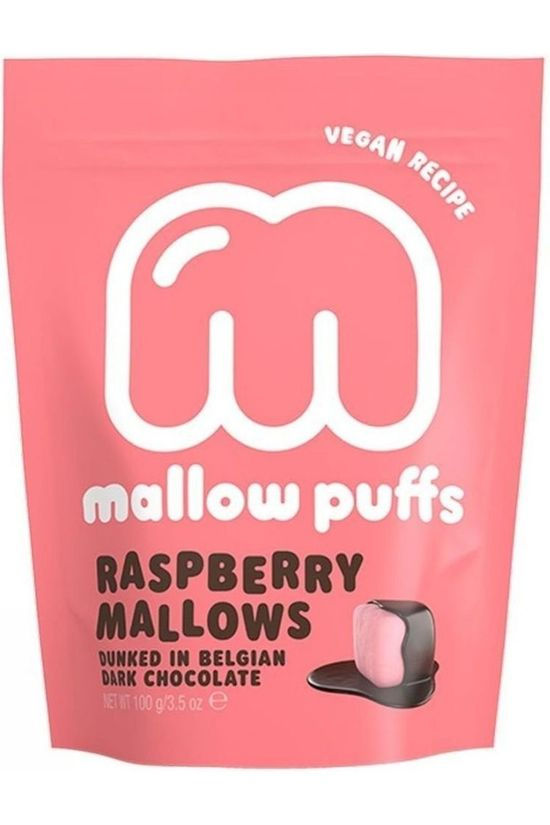 Mallow Puffs Nourriture Mallow Puffs Raspberry 100gr Rose Moyen/Blanc