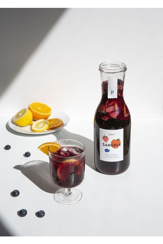 PINEUT Vin Rouge Sangria Pas de couleur / Transparent