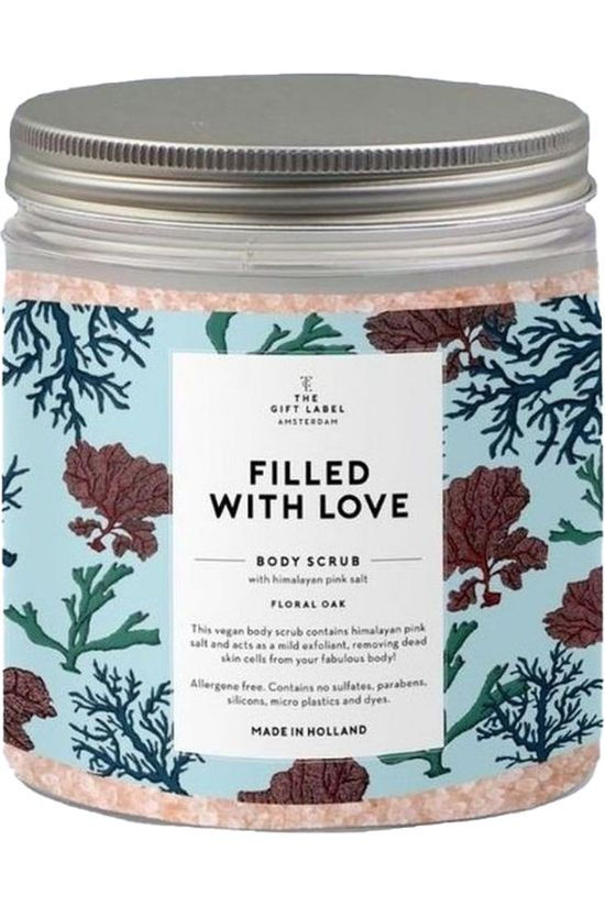 The Gift Label Body Scrub Filled With Love Lichtblauw/Middengroen