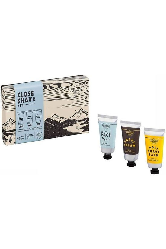 Gentlemen's Hardware Shampoo/Douchegel Close Shave Kit Middenblauw/Middengrijs