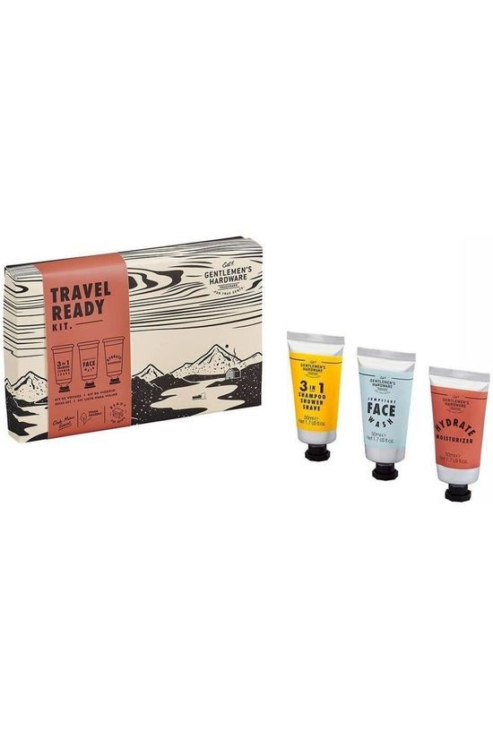 Gentlemen's Hardware Shampooing/Gel Douche Travel Ready Kit Rouge Moyen/Gris Moyen