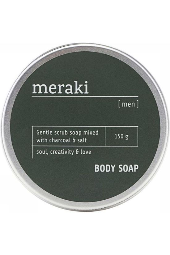 Meraki Zeep Body Men Charcoal  Zilver/Wit