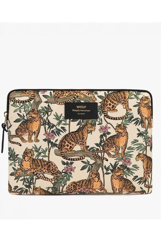 Wouf Accessoire De Bureau Ipad Sleeve Lazy Jungle Blanc/Orange