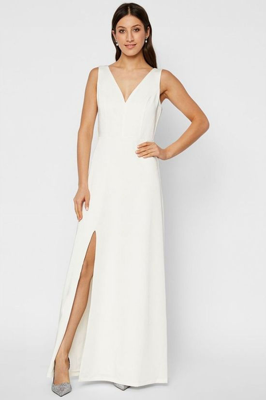 Yas Anne Maxi Dress Gebroken Wit