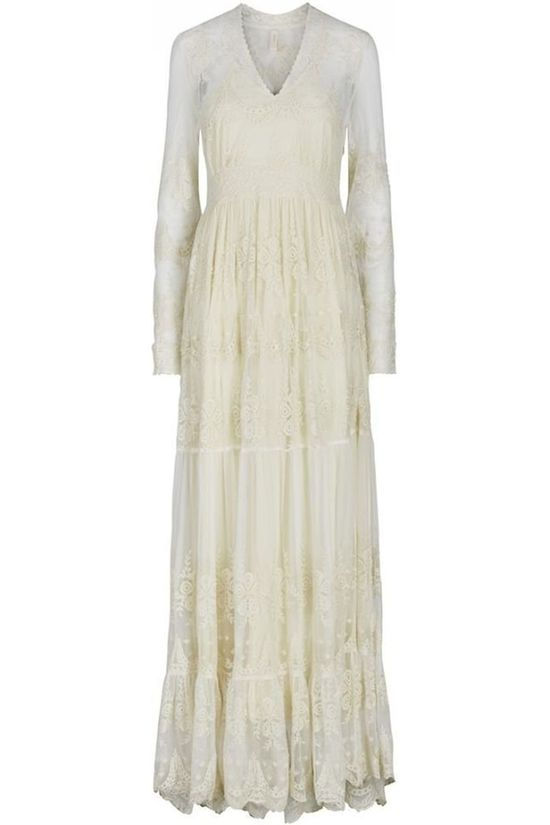 Yas Eloise Maxi Dress Blanc Cassé