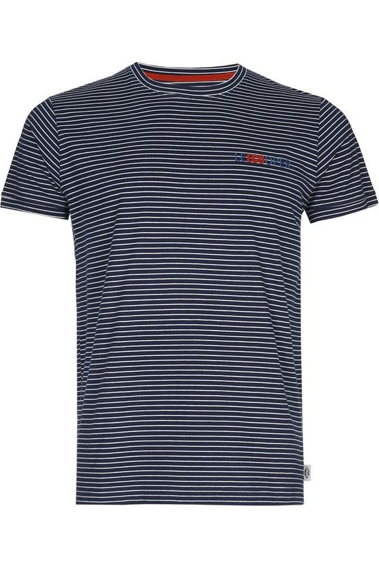 Lee Cooper T-Shirt Napoli Eco Donkerblauw/Wit