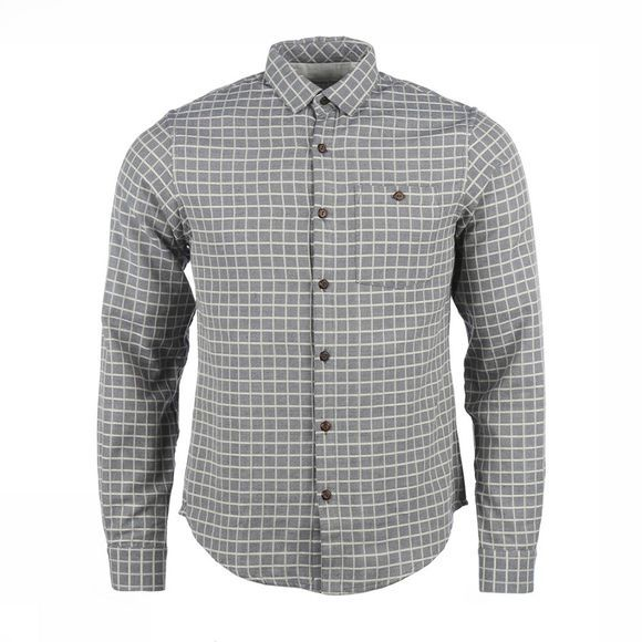 People Tree Chemise James Check Gris Moyen/Gris Clair