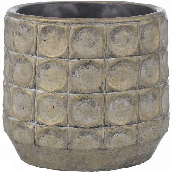 Gold Finish Flower Pot L