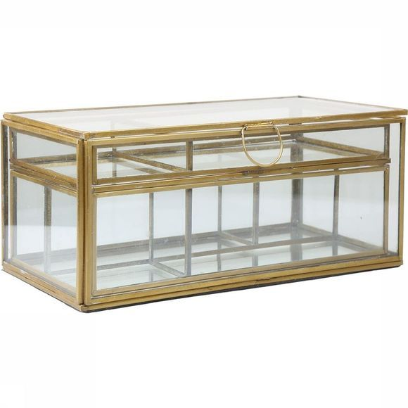 Madam Stoltz Glassbox With Removable Trays Pas de couleur/Cuivre