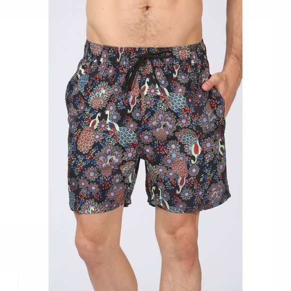 Ben Sherman Short De Bain L5-3504-BS Noir/Assortiment Fleur