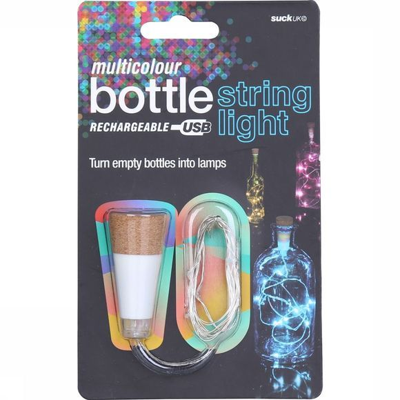 Suck UK Gadget Multicolour Bottle String Light Wit/Kameelbruin