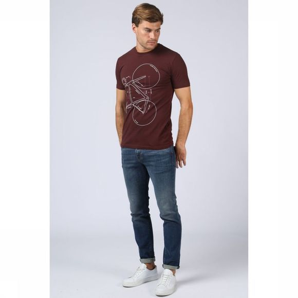Knowledge Cotton Apparel T-Shirt 10-458 Bordeaux