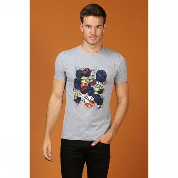 Knowledge Cotton Apparel T-Shirt 10-471 Gris Clair Mélange