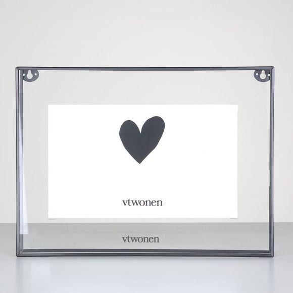 VW Cadre Black Metal Photo Framerectangular L Noir