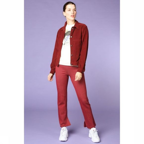 Thinking Mu Blazer Wine Corduroy Bordeaux