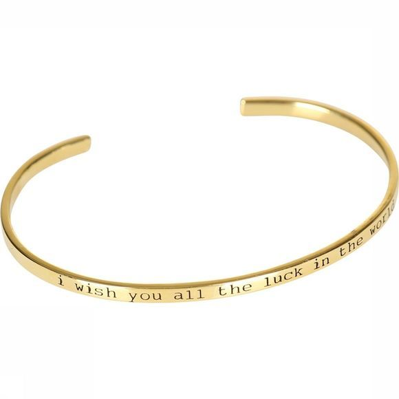 Anna+Nina Bracelet I Wish You All The Luck In The World Cuff Or