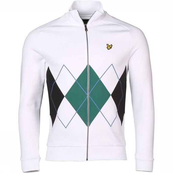Lyle & Scott Cardigan 1901-Ml1015V Wit/Donkergroen