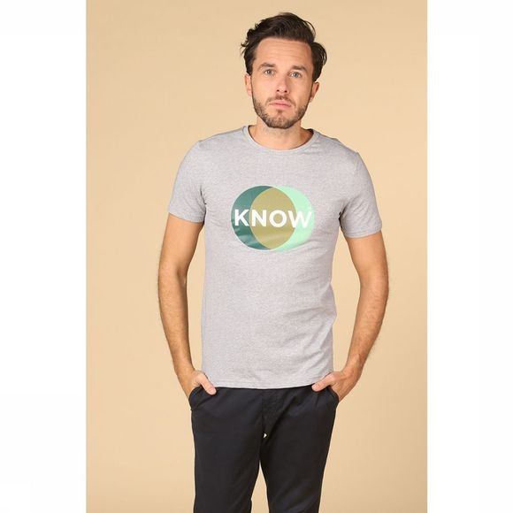 Knowledge Cotton Apparel T-Shirt 10496 Gris Clair Mélange