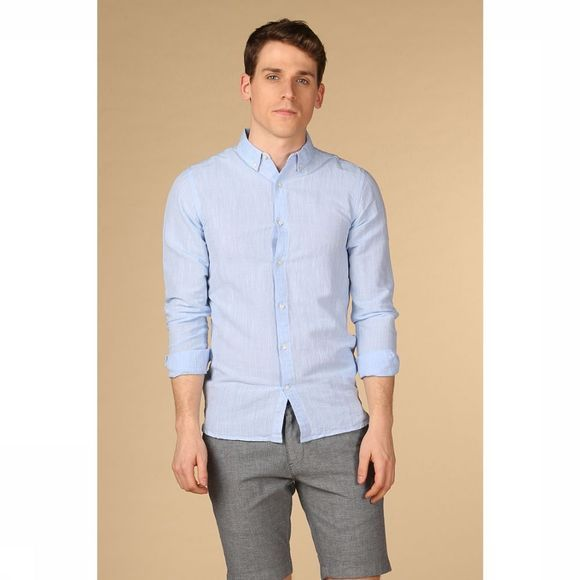 Knowledge Cotton Apparel Chemise 90733 Bleu Clair