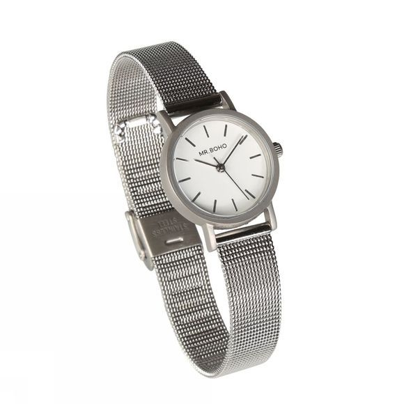 Mr. Boho Montre Mini Metallic Argent
