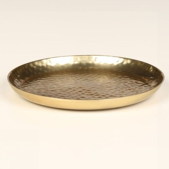 VT Wonen Bougeoir Plate Metal Gold 15cm Or