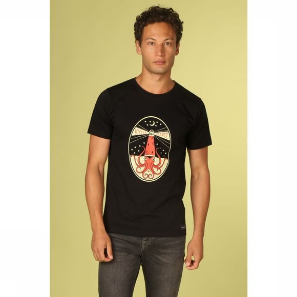 Bask in the Sun T-Shirt Oktopus Zwart